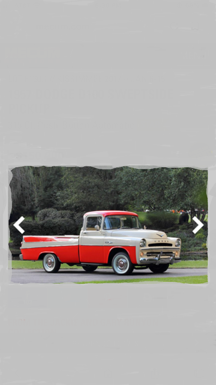 1957 Dodge D100 Sweptside Pickup For Sale (picture 2 of 2)