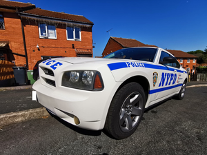 Dodge Charger American olice Car. NYPD