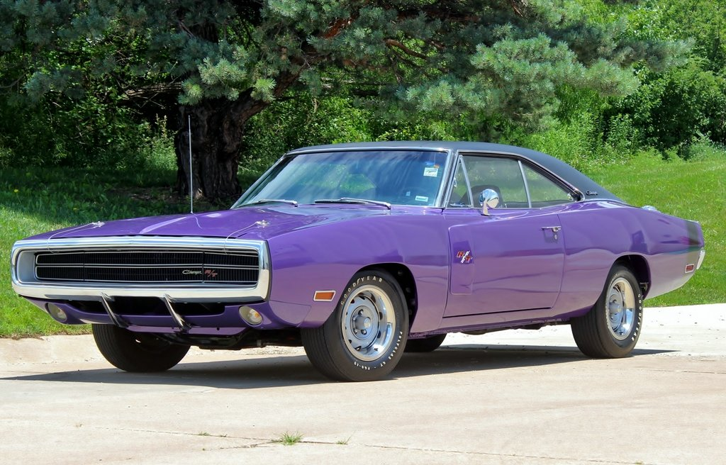 1970 Dodge Charger R/T Purple Rotisserie Restored #s match For Sale (picture 1 of 6)