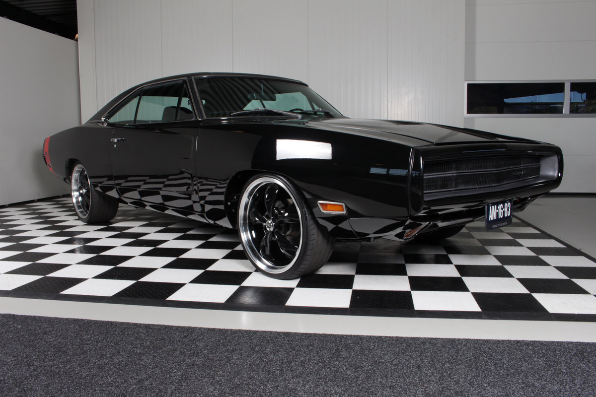 1970 Charger Bigblock tripple black rottiserie restored ! For Sale (picture 1 of 6)