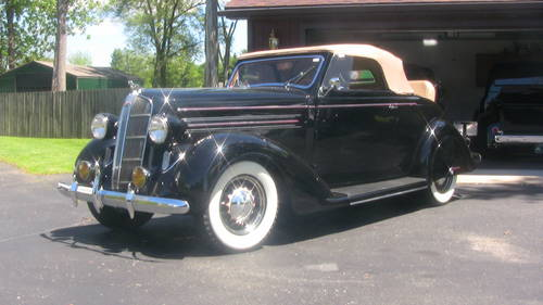 1936 Dodge D2 Rumble Seat Convertible Coupe  For Sale (picture 1 of 6)
