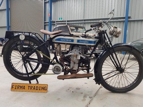 Rare Douglas 1923 350cc 2 3/4 by Firma Australia For Sale (picture 1 of 6)