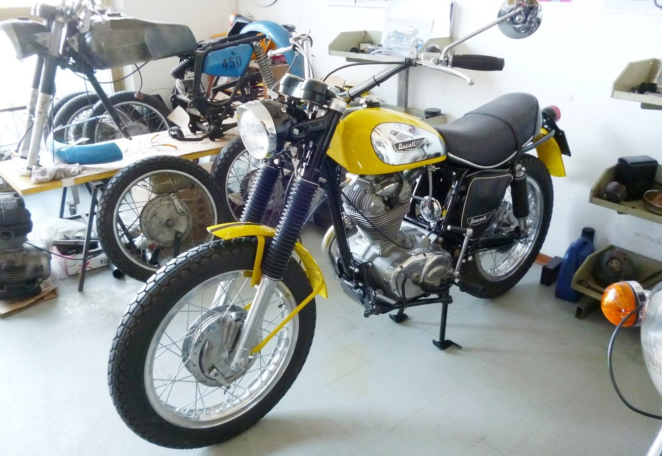 1974 Ducati 250 Scrambler low mileage For Sale (picture 4 of 6)