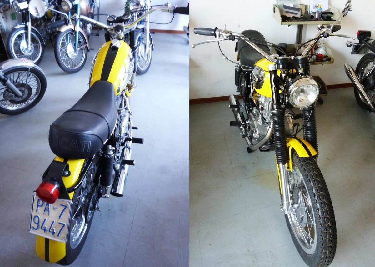 1974 Ducati 250 Scrambler low mileage For Sale (picture 5 of 6)