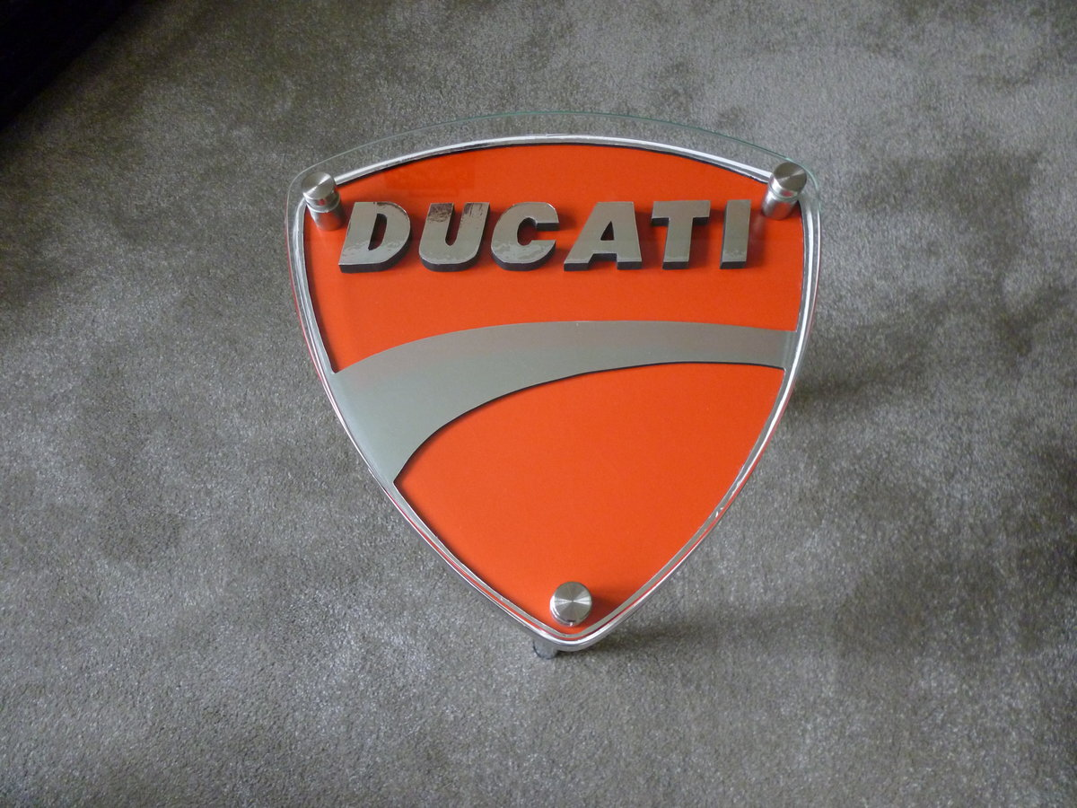 Ducati Themed Side Table SOLD (picture 1 of 3)