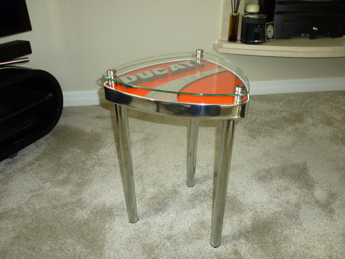 Ducati Themed Side Table SOLD (picture 2 of 3)