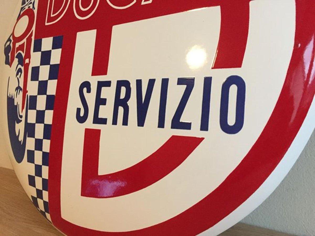 RARE DUCATI Sign Enamel Porcelain Service Dealer For Sale (picture 4 of 5)