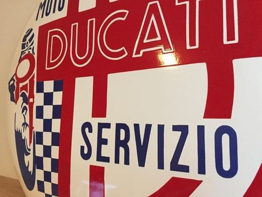 RARE DUCATI Sign Enamel Porcelain Service Dealer For Sale (picture 5 of 5)