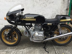 1978 Ducati 900SS Black/ Gold VERY RARE LOW MILAGE For Sale
