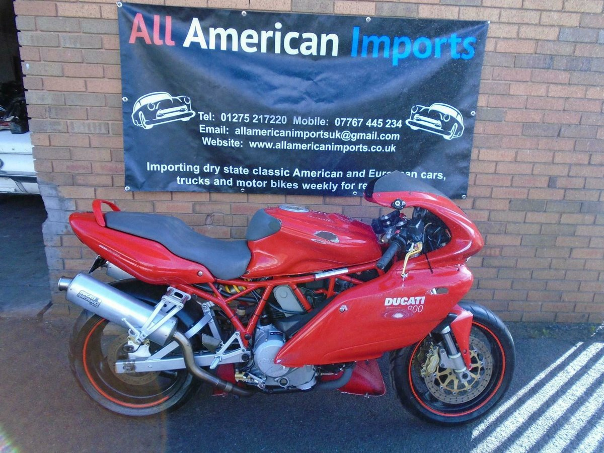 DUCATI SUPERSPORT 800 SS (2006) RED! 2 OWNERS 30K! For Sale (picture 2 of 6)