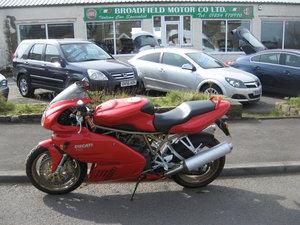 2000 X-reg Ducati 750 Supersport in Ducati Red