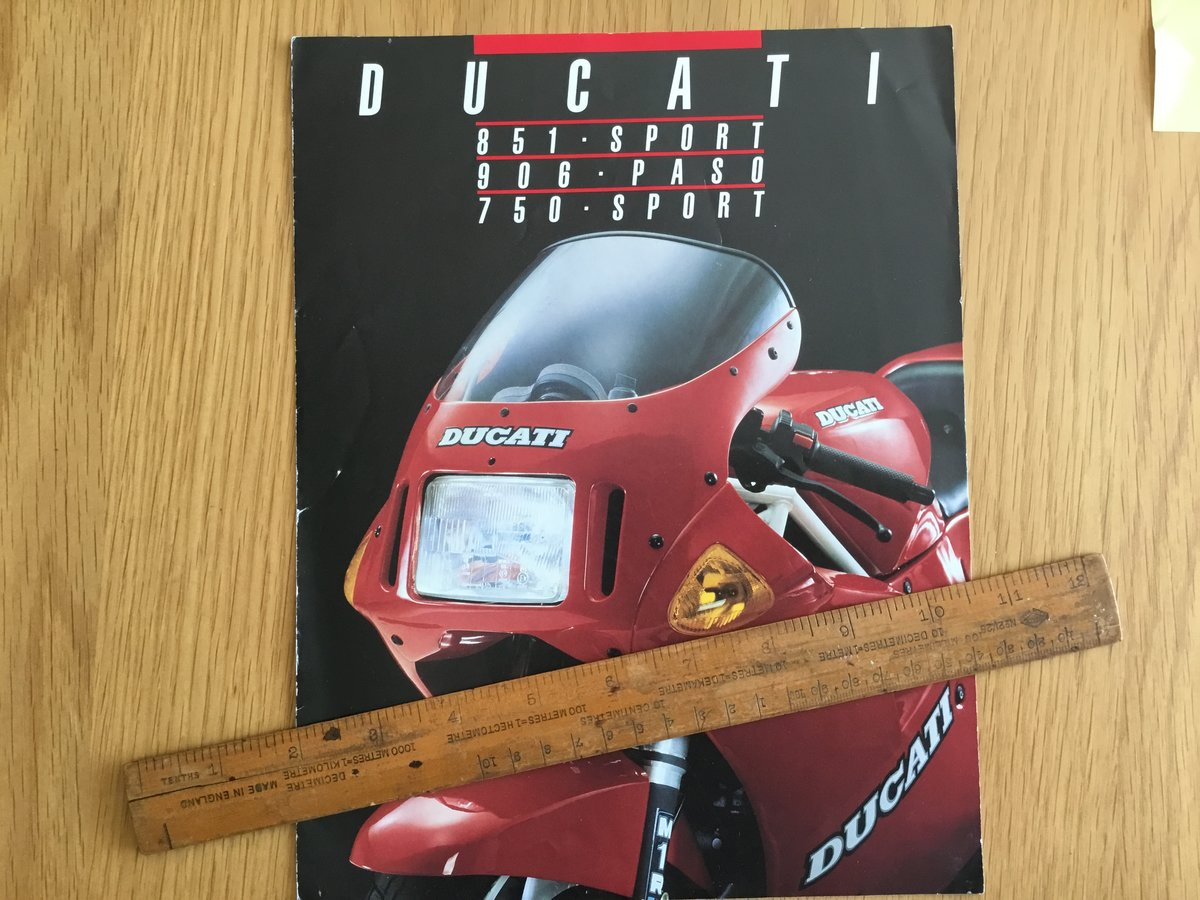 1990 Ducati 851 brochure For Sale (picture 1 of 1)