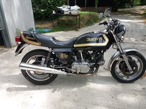 Ducati Darmah 900 Black and Gold 1980