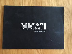 2005 Ducati brochure Paul smart and sport and gt1000 SOLD