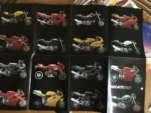 2001 Ducati brochure all models SOLD