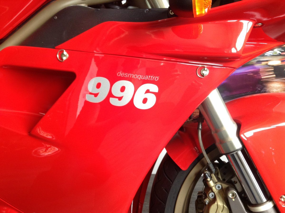 1999 Ducati 996 Immaculate Low Mileage Example For Sale (picture 3 of 6)