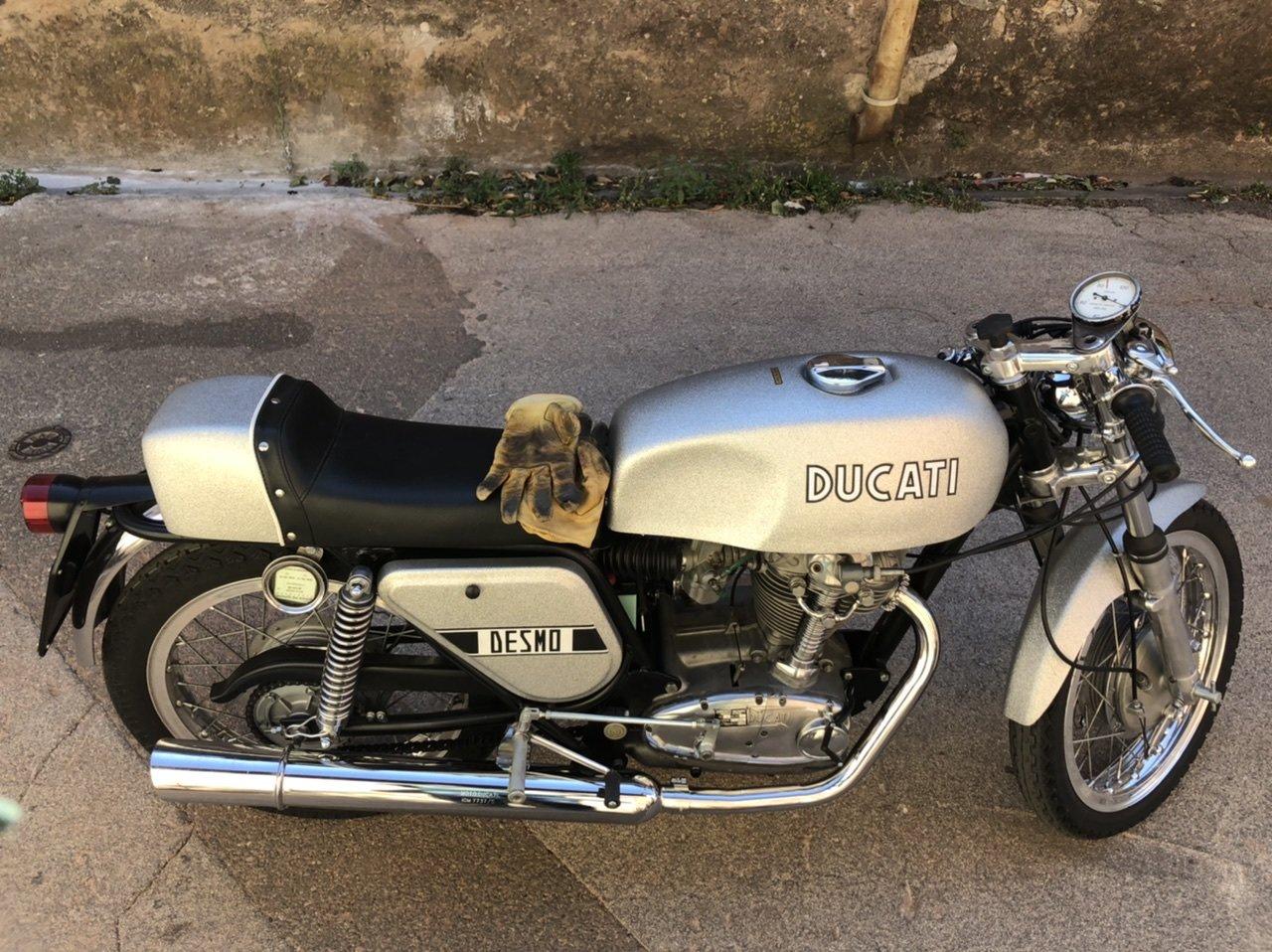 1971 Ducati 350 MK3 Silver Shotgun For Sale (picture 1 of 3)