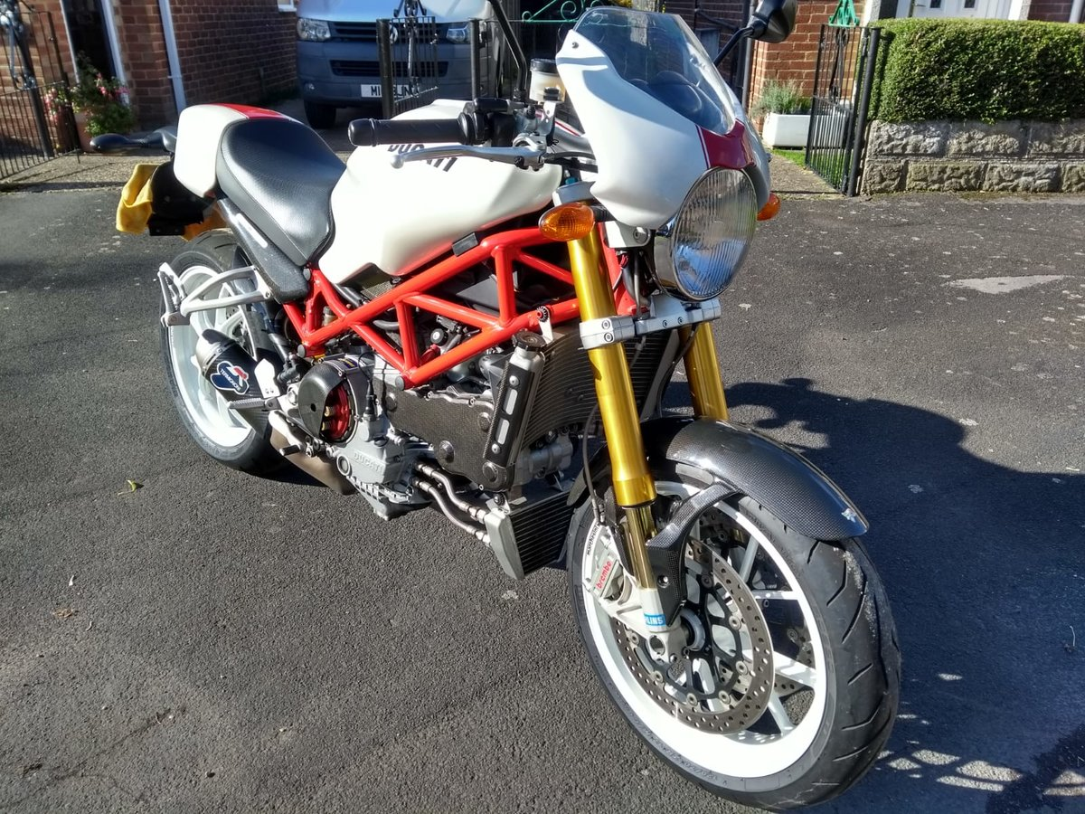 2008 Ducati Monster S4RS, 6k Miles, Brilliant Condition For Sale (picture 1 of 6)