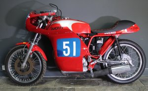 Picture of 1970 Ducati Desmo 350 cc Racing Motorcycle Presents superbly For Sale