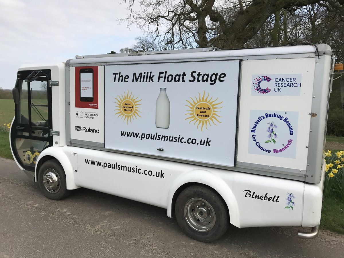 2005 Rare Q Electric Milk Float For Sale (picture 1 of 6)