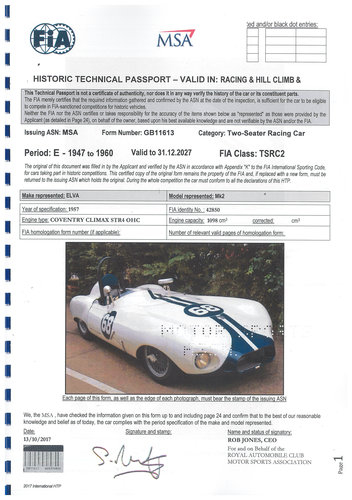 1957 ELVA MKIIB Alloy bodied - FIA Papered For Sale (picture 5 of 6)