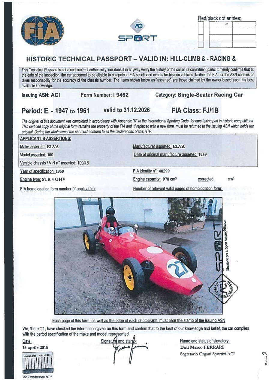 ELVA 100 FORMULA JUNIOR 1959 For Sale (picture 3 of 6)