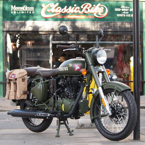 Royal Enfield Pegasus Battle Green Special Edition.