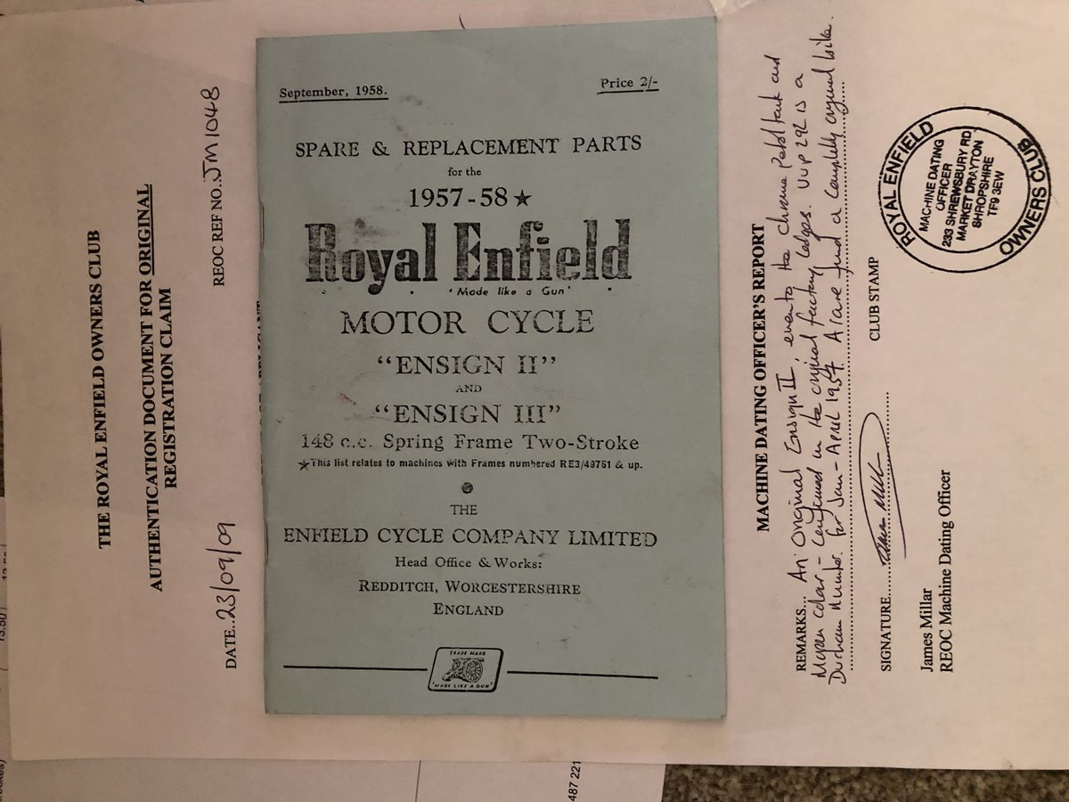 1957 Royal Enfield Ensign mk2 SOLD (picture 2 of 6)