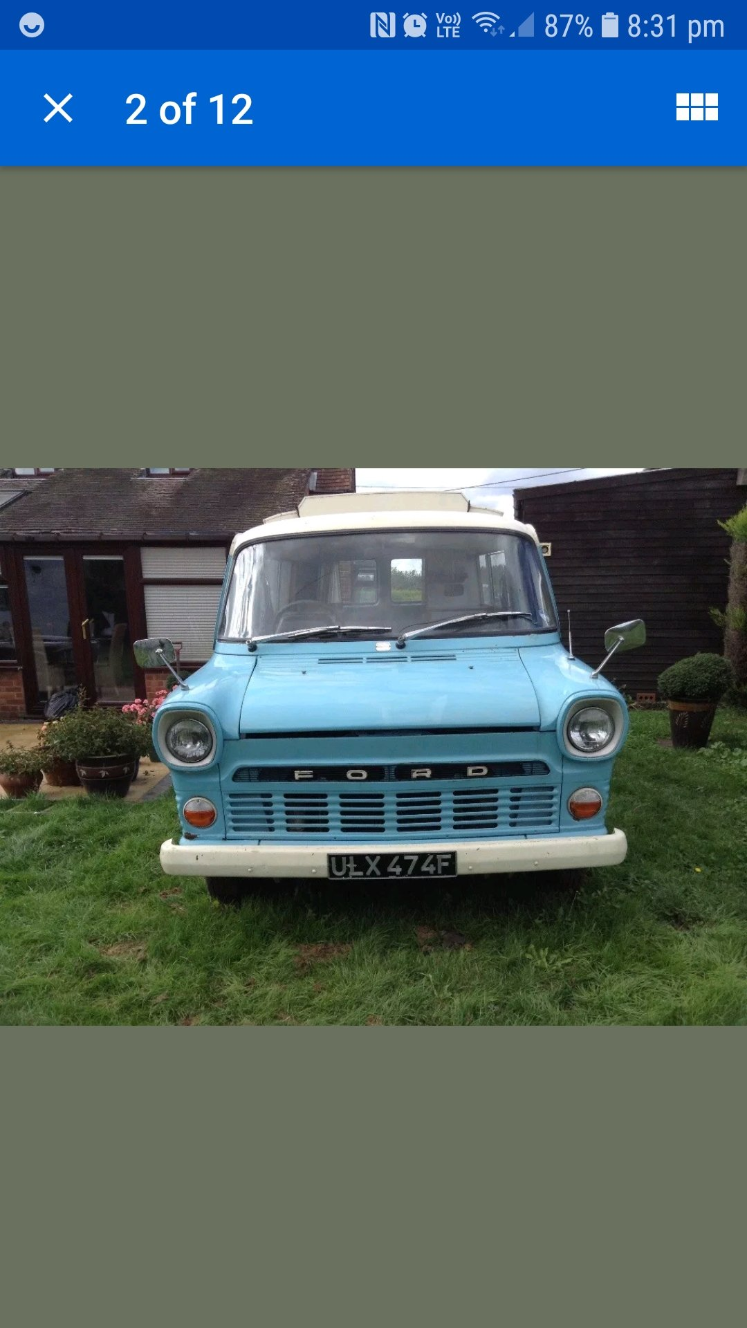 1968 FORD TRANSIT MK1 CAMPER wayfarer For Sale (picture 1 of 6)