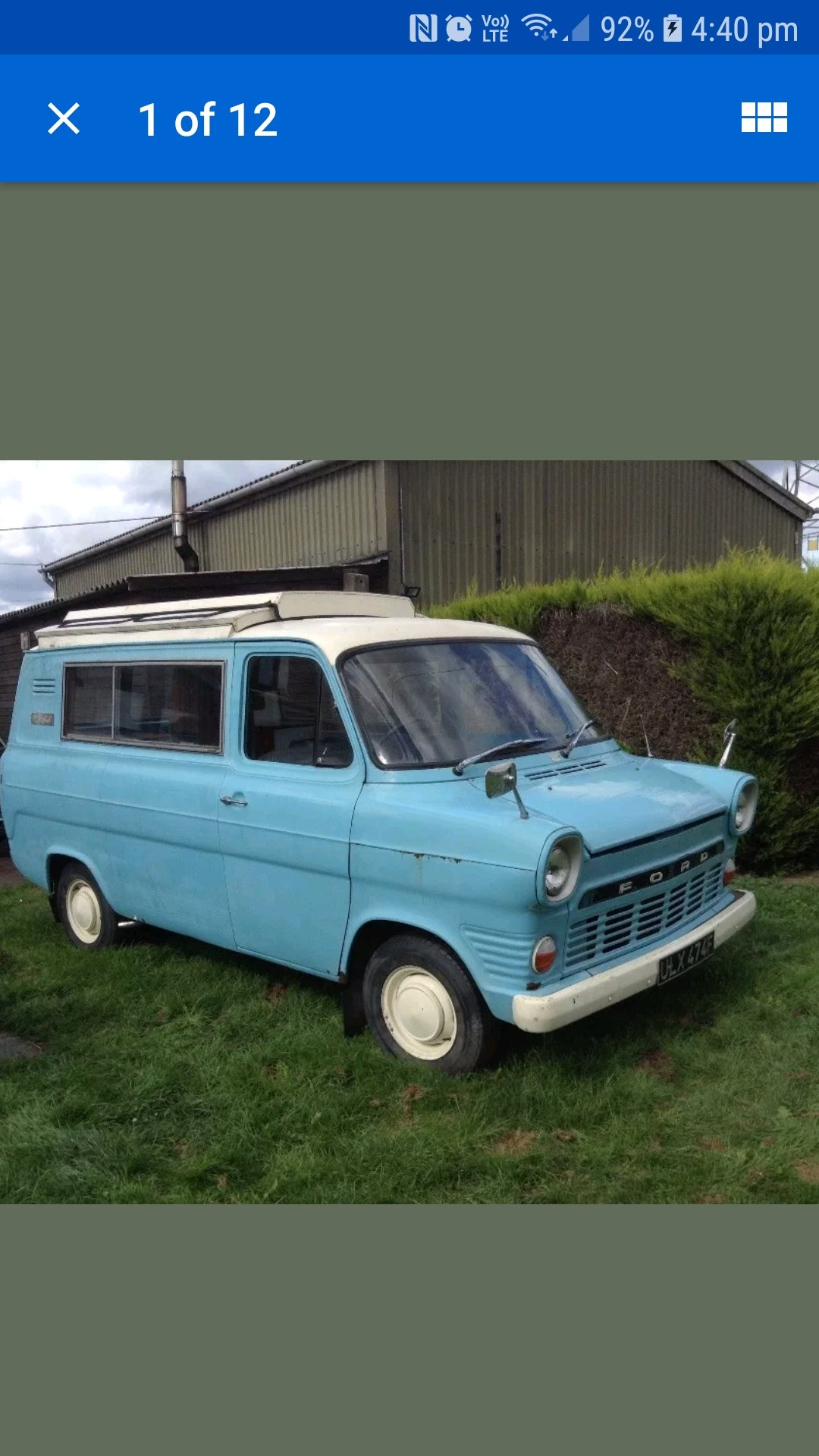 1968 FORD TRANSIT MK1 CAMPER wayfarer For Sale (picture 2 of 6)