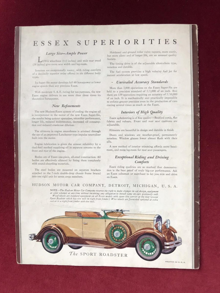 1931 Essex Super Six Sport Roadster For Sale (picture 6 of 6)