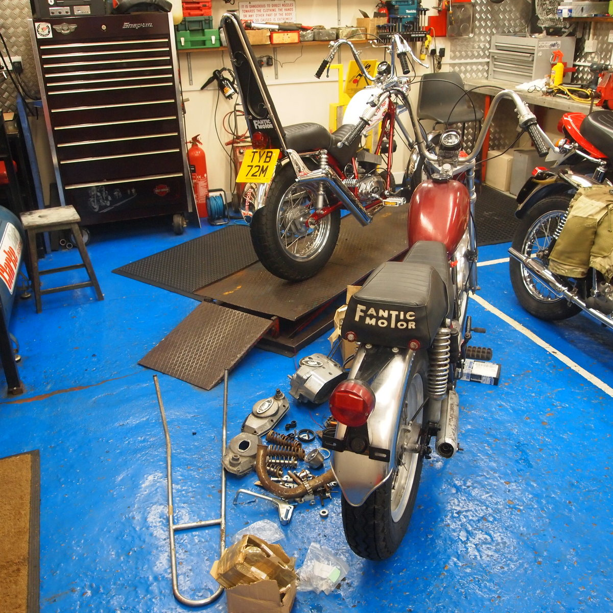 1974 Rare Fantic Chopper, Starts And Runs Well. For Sale (picture 4 of 6)