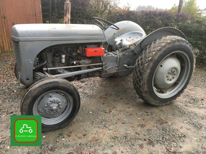 1954 GREY FERGUSON TE20 ALL WORKS ROAD REG WITH LOG BOOK CAN DROP SOLD