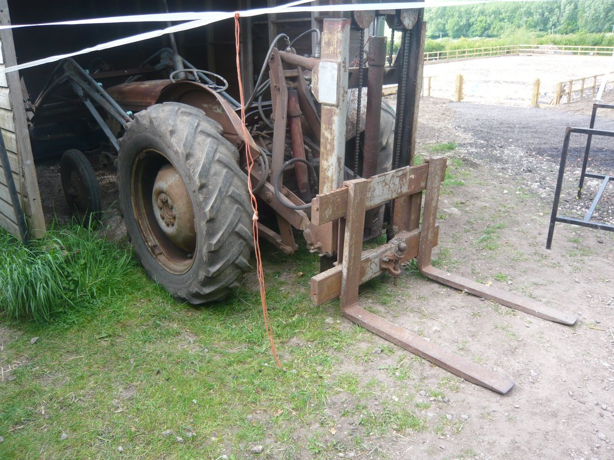1954 Ferguson TEF DIESEL front loader and rear pallet f For Sale (picture 3 of 3)