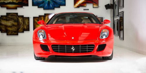 2007 Ferrari 599 GTB Fiorano - Rosso Scuderia+Carbon Door Inserts For Sale (picture 2 of 6)