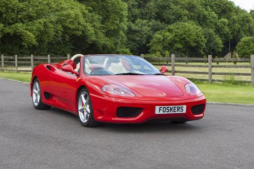 2004 Ferrari 360 Spider SOLD (picture 1 of 6)