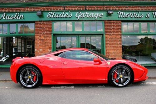 2015 Ferrari 458 Coupe Speciale  SOLD (picture 1 of 4)