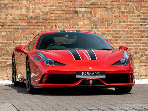 2015/15 Ferrari 458 Speciale - Special Rosso Fuoco Paint SOLD (picture 1 of 6)