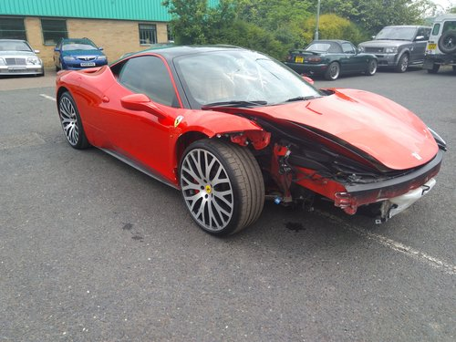 2010 Ferrari 458 Italia F1 Salvage Accident Damaged Sold Car And