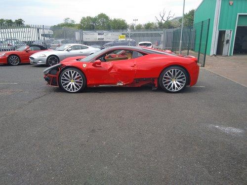 2010 Ferrari 458 Italia F1 Salvage Accident Damaged SOLD (picture 6 of 6)