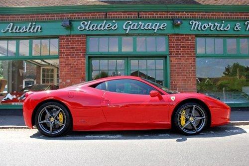 2011 Ferrari 458 Italia DCT Coupe  SOLD (picture 1 of 4)