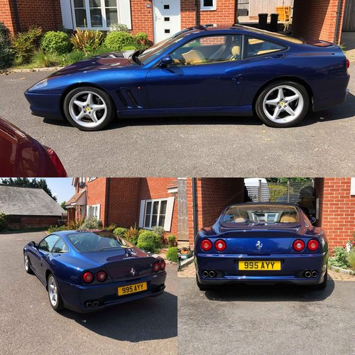 1999 TDF Blue Ferrari 550 In stunning condition Fantastic history For Sale (picture 1 of 6)