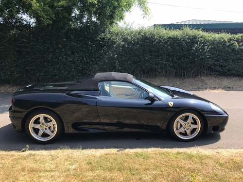 2003 Beautiful MANUAL 360 Spyder WITH A RARE HIGH SPECIFICATION  For Sale (picture 1 of 6)