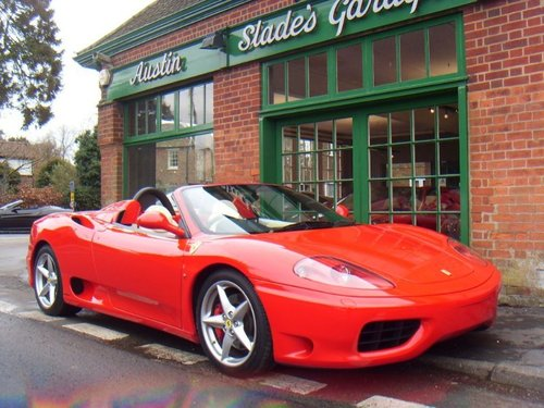 2002 Ferrari 360 Spider F1 SOLD (picture 2 of 4)