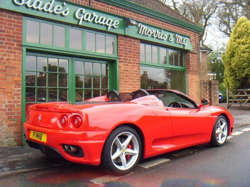 2002 Ferrari 360 Spider F1 SOLD (picture 3 of 4)