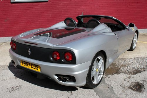 2001 FERRARI 360 SPIDER MANUAL 6 SPEED CONVERTIBLE MANUAL For Sale (picture 2 of 5)