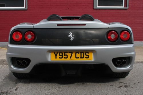 2001 FERRARI 360 SPIDER MANUAL 6 SPEED CONVERTIBLE MANUAL For Sale (picture 5 of 5)