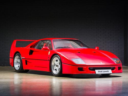 1992 Ferrari F40 Factory Classiche'd For Sale (picture 1 of 6)