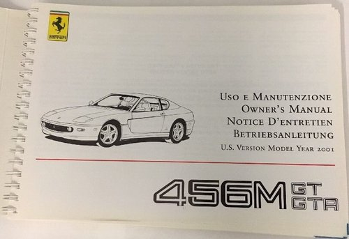 Ferrari 456M Owners manual (US version). For Sale (picture 3 of 3)