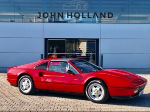 1989 Ferrari 328 GTS, Rosso Corsa with Crema Leather,  For Sale
